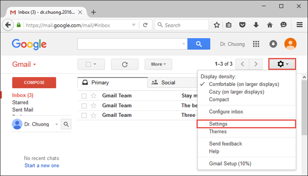 Access Gmail with Outlook
